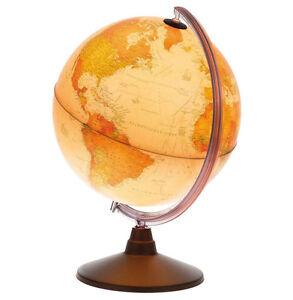 Idena Leuchtglobus 30 cm mit Lupe antiker Stil Globus leuchtend Erdkugel Erdball