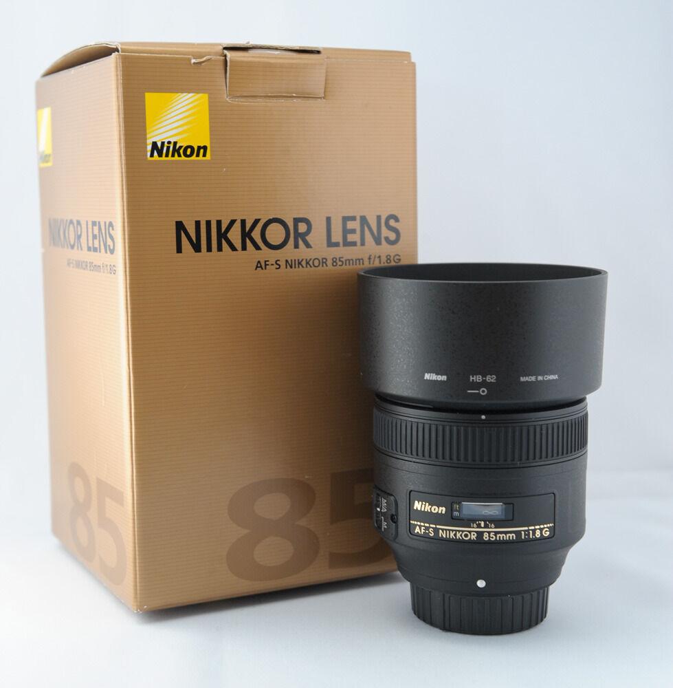 new nikon af s nikkor 85mm f 1 8g lens 2201 w hood. Black Bedroom Furniture Sets. Home Design Ideas