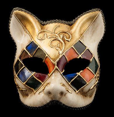 Mask Cat Venetian Carnival Venice-Mosaic Tutti Fruiti Golden -1954-V83B