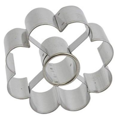 Italo Ottinetti Cookie Cutters Flower Aluminum CMS 7 Canestrello Canestrelli