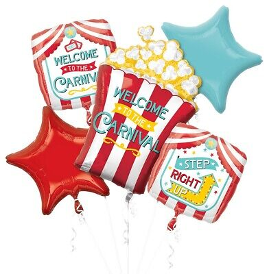 Circus Birthday Balloon Bouquet, Mylar Balloons, Party Decoration Idea, Carnival - Carnival Birthday Ideas