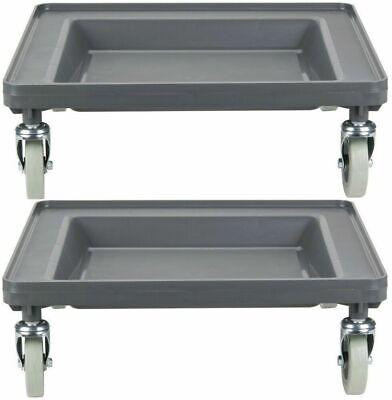 2 Pack Commercial Restaurant Dishwasher Dish Glass Rack Dolly Cart Full Size