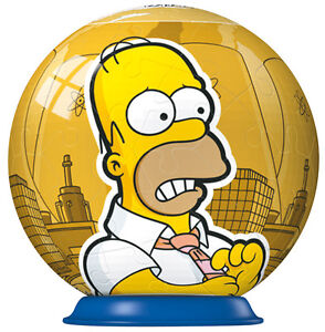 NEW! Ravensburger Puzzleball The Simpsons Homer 54 piece 3D jigsaw puzzle