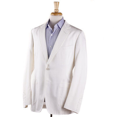 NWT $3650 TOM FORD Ivory White 'Shelton' Cardigan Jacket Slim 42 R Sport Coat