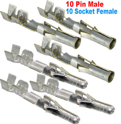 10 Pair Molex Pin Male Female .093 14-20 Awg 02-09-1104 02-09-2103
