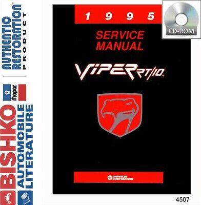 1995 Dodge Viper Shop Service Repair Manual CD Engine Drivetrain Electrical OEM