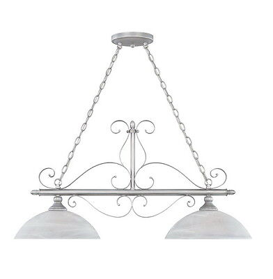 Matte Pewter with Alabaster Glass Chandelier/Island Light Alabaster Pewter Chandelier