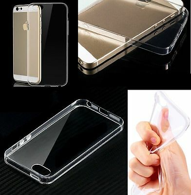 Best Quality TPU Clear Silicone Gel Case Cover for Apple iPhone 5c + Glass
