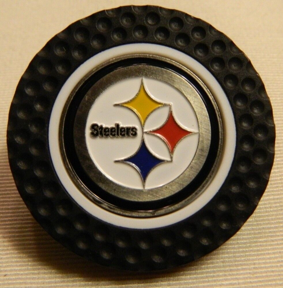 NFL Pittsburgh Steelers Magnetic Poker Chip Removeable Golf Ball Marker