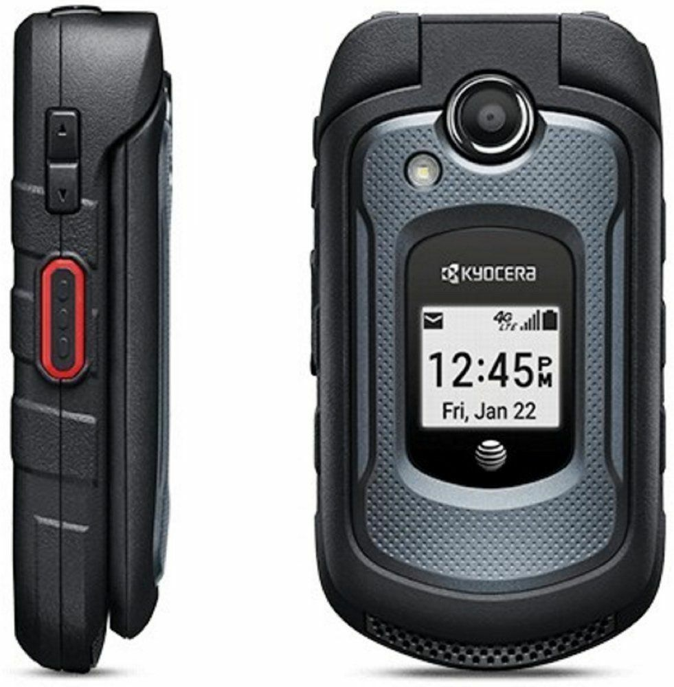 Android Phone -  Kyocera DURAXE E4710 AT&T LTE 4G 5MP CAM Android WATERPROOF FLIP Phone GEN BOX