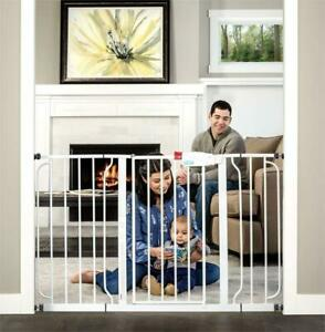 NEW Regalo Easy Step 49-Inch Extra Wide Baby Gate, Includes 4-Inch and 12-Inch Extension Kit, 4 Pack of Pressure Moun...