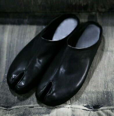 ByTheR Simple Leather Tabi Bloafer Shoes Ninjawear Split RARE Black US Size 8 N