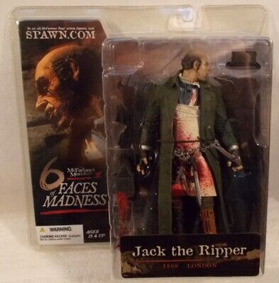 Jack The Ripper 6 Faces Of Madness Mcfarlane Monsters Knife Hat Bloody Bag MISP for sale  Shipping to India
