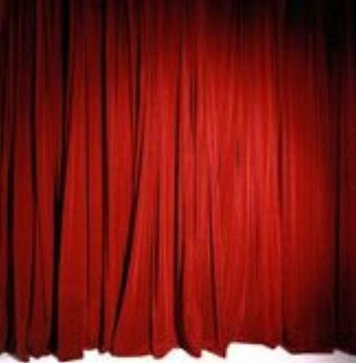 NEW Stage Curtain~15 x 30 FR Red Princess Velour Backdrop~FREE SHIPPING~ ()