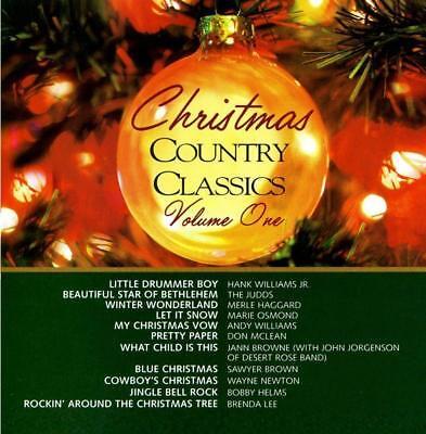 CHRISTMAS COUNTRY CLASSICS 1 NEW CD Merle Haggard,Judds,Hank Williams Jr,Osmonds