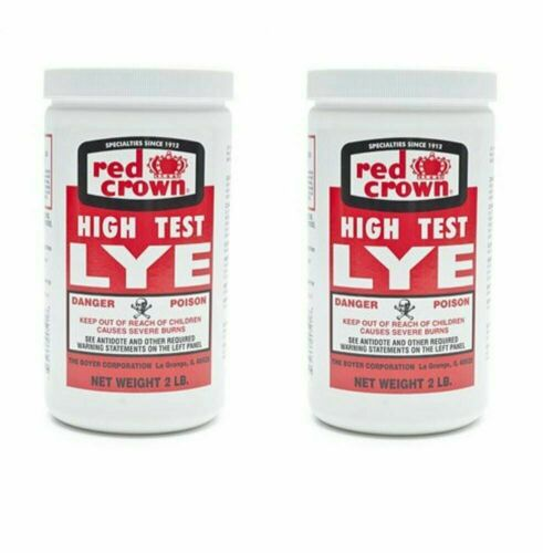 Red Crown High Test Lye for Handcrafted Soap Making NOT Food Grade 2 lb (2-pack)