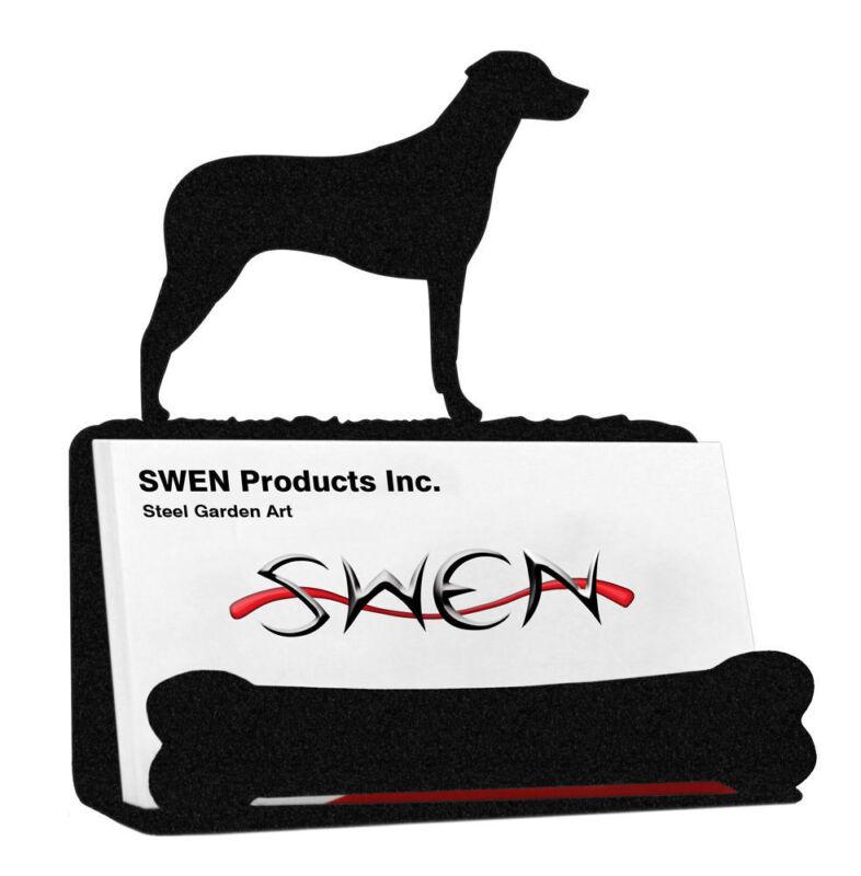 SWEN Products RHODESIAN RIDGEBACK Dog Black Metal Business Card Holder