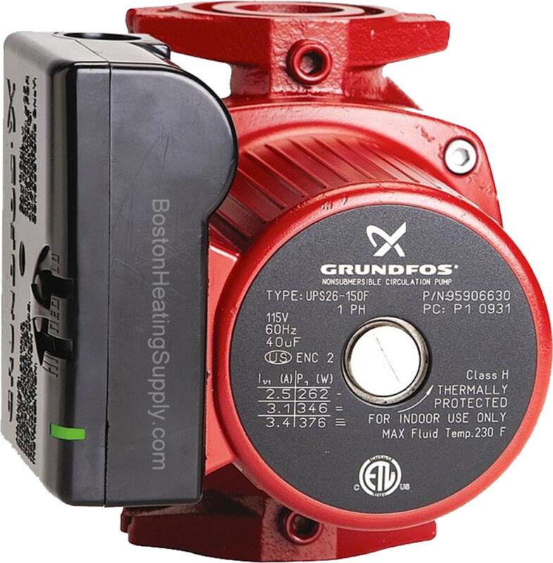 Grundfos UPS26-150F 3-speed water circulator pump