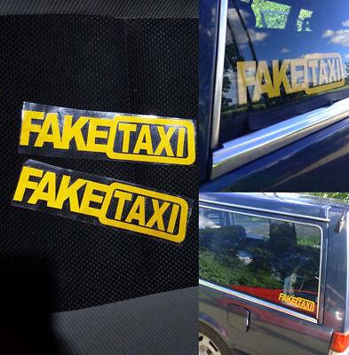 2X Car Sticker Fake Taxi Jdm Drift Turbo Hoon Race Auto Funny Vinyl Decal 20X5cm