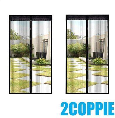 2X Zanzariera Magnetica Tenda 240x140 Cm Per Porte Finestre Anti Zanzare Mosche