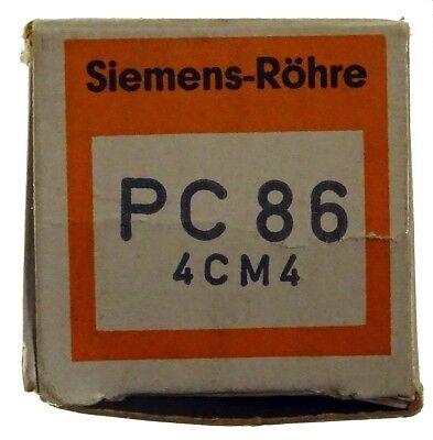GEPRÜFT: PC86 / 4CM4 Radioröhre, Hersteller Siemens. ID16805