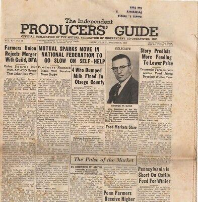The Independent Producers' Guide, November 1957 vintage agricultural newspaper