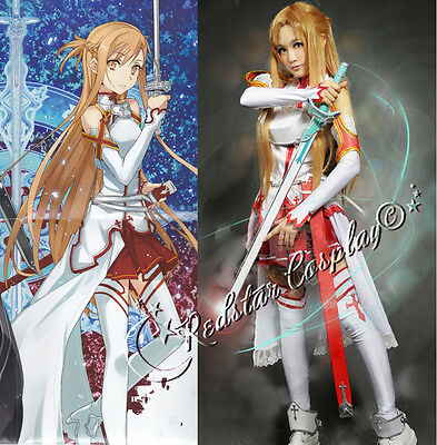 Sword Art Online Asuna Yuuki Cosplay Costume - Custom made in any size