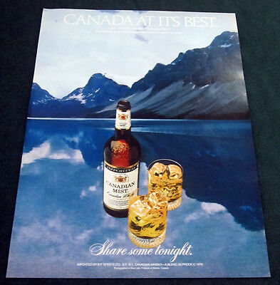 1980 Canadian Mist 1-page large format print ad Canada at its Best