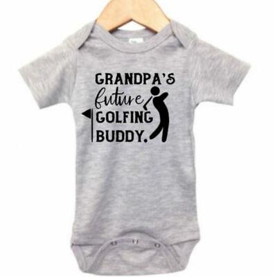 Baby Golf Golf Romper - BABY GOLFING BODYSUIT, GRANDPA'S Future Golfing Buddy, GOLF ROMPER, INFANT Golf