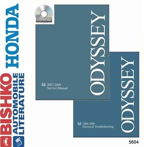2007 2008 2009 Honda Odyssey Shop Service Repair Manual CD