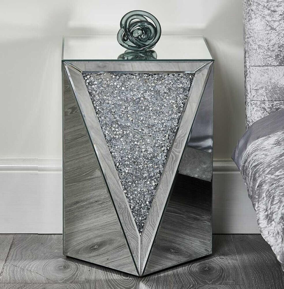 End Table Acme Furniture 82772 The Noralie Mirrored Sparkly