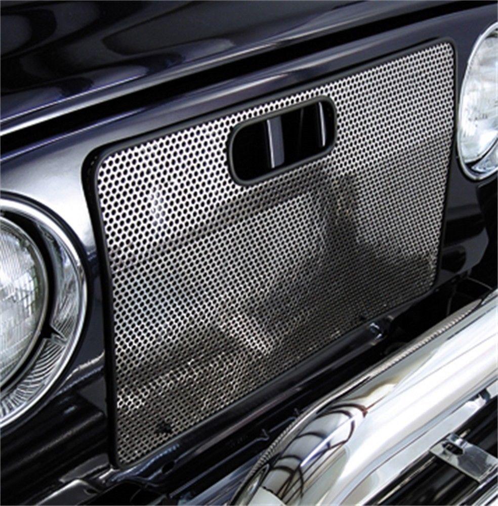 Jeep Wrangler TJ Radiator Grill Bug Screen 1997-06 Black