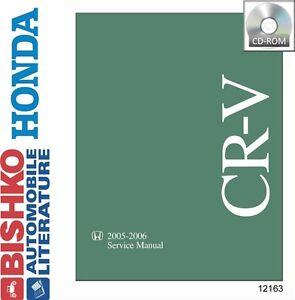 2005 2006 Honda CR-V Shop Service Repair Manual CD w/ ETM manual