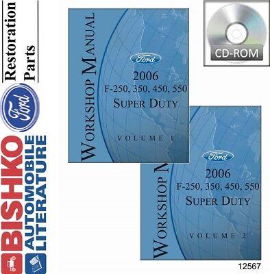 2006 Ford F250-F550 Super Duty Shop Service Repair Manual CD Engine Drivetrain