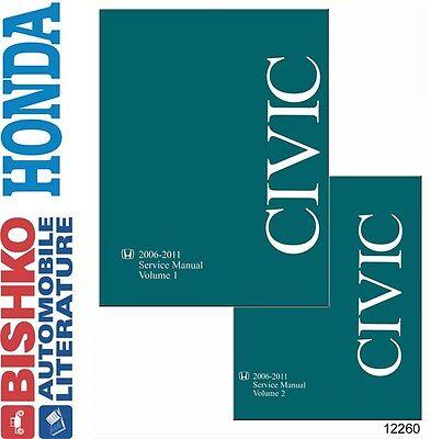 2006 2008 2010 2011 Honda Civic Shop Service Repair Manual CD Engine Drivetrain