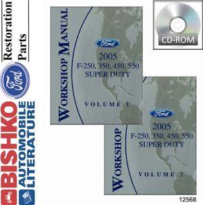 2005 Ford F250-F550 Super Duty Shop Service Repair Manual CD Engine Drivetrain