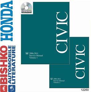 2006 2008 2010 2011 Honda Civic Shop Service Repair Manual DVD Engine  Drivetrain