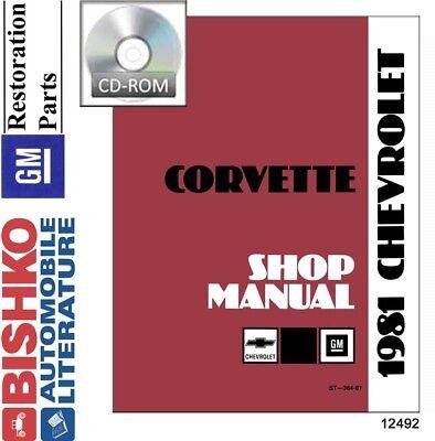 1981 Chevrolet Corvette Shop Service Repair Manual CD Engine Drivetrain Wiring