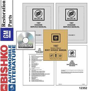 1987 Buick Shop Service Repair Manual DVD OEM