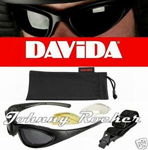 DAVIDA-wrs74-MOTO-Gafas-amp-Gafas-de-sol-con-Intercambiables-Lentes-amp-Correa