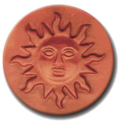 """RYCRAFT 2"""" Round Cookie Stamp with Handle & Recipe Booklet--SUNFACE"""