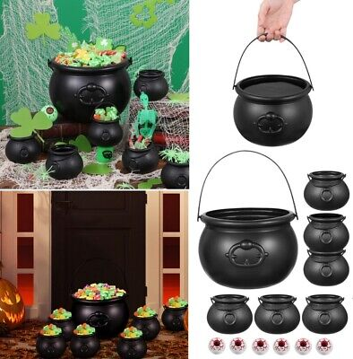 13 in 1 Plastic Candy Bucket Witch's Cauldron Candy Holder for Kids Halloween US