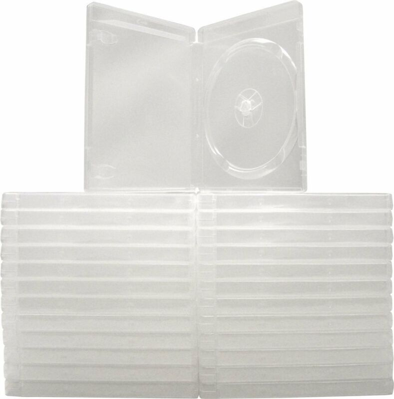 (25) Clear Playstation 3 Replacement Boxes Cases PS3 Disc 14MM Game #VGBR14PS3CL