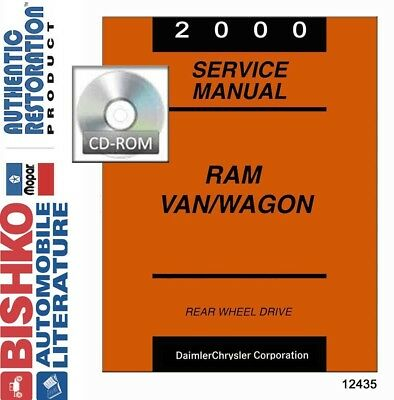2000 Dodge Ram Van & Wagon Shop Service Repair Manual CD