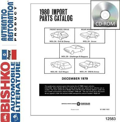 OEM Parts Book CD Dodge Truck Ram 50/Challenger/Colt/Arrow/Champ 1980 Dodge Oem Parts Cd