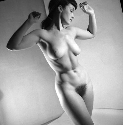 Bettie Page nude pinup 8x8 print 021
