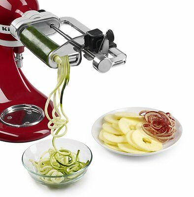 KitchenAid Spiralizer Peel Core Slice Attachment Fit all Stand Mixers RKSM1APC