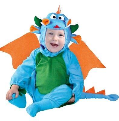 Baby Mädchen Jungen Süße Blaue Drachen Kostüm Kleid Outfit 6-12-24 Monate