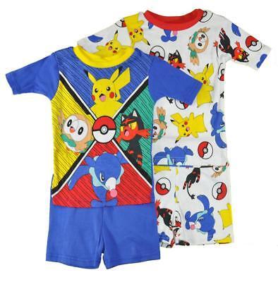 Pokemon Little/Big Boys Four-Piece Snug Fit Pajama Set Size 4 6 8 10 $44](Little Boys Pjs)