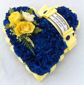 Artificial Silk Funeral Flower Heart Wreath Memorial Tribute Personalised Dad